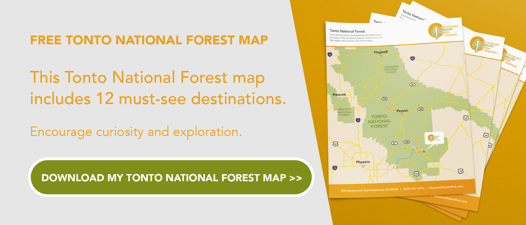 Tonto National Forest Map Guide