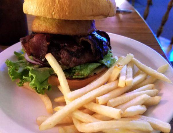 Roosevelt Lake Resort Restaurant Burger and Fries