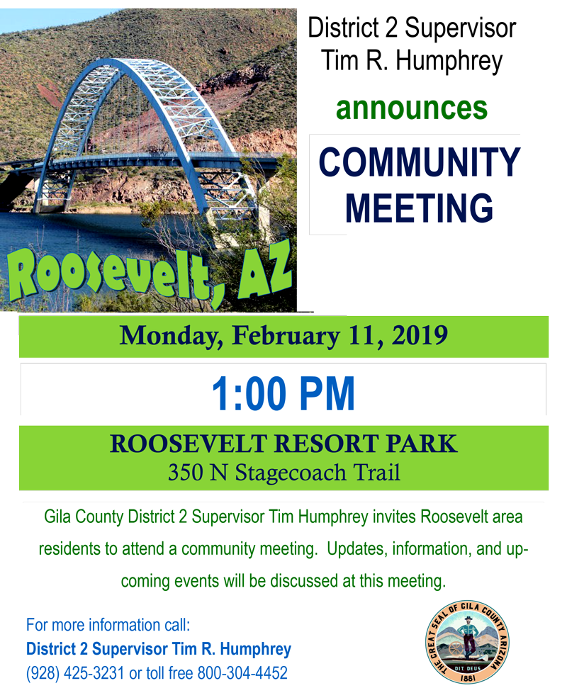 Roosevelt AZ Community Meeting Flyer