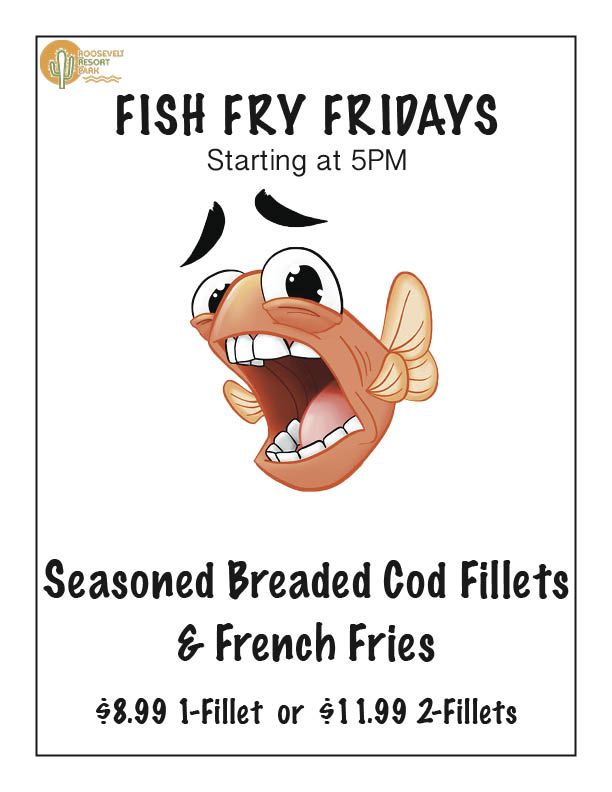 Friday Fish Fry at Roosevelt Lake Resort