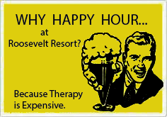 Happy Hour Therapy at Roosevelt Lake Resort