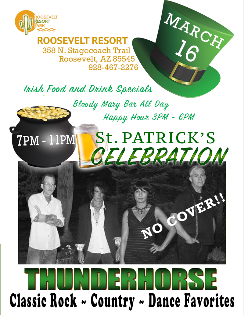 Roosevelt Lake Resort St. Patrick's Day Party