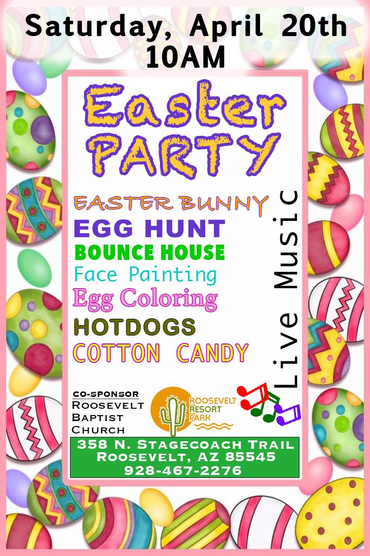 Easter Egg Hunt Roosevelt Lake Resort