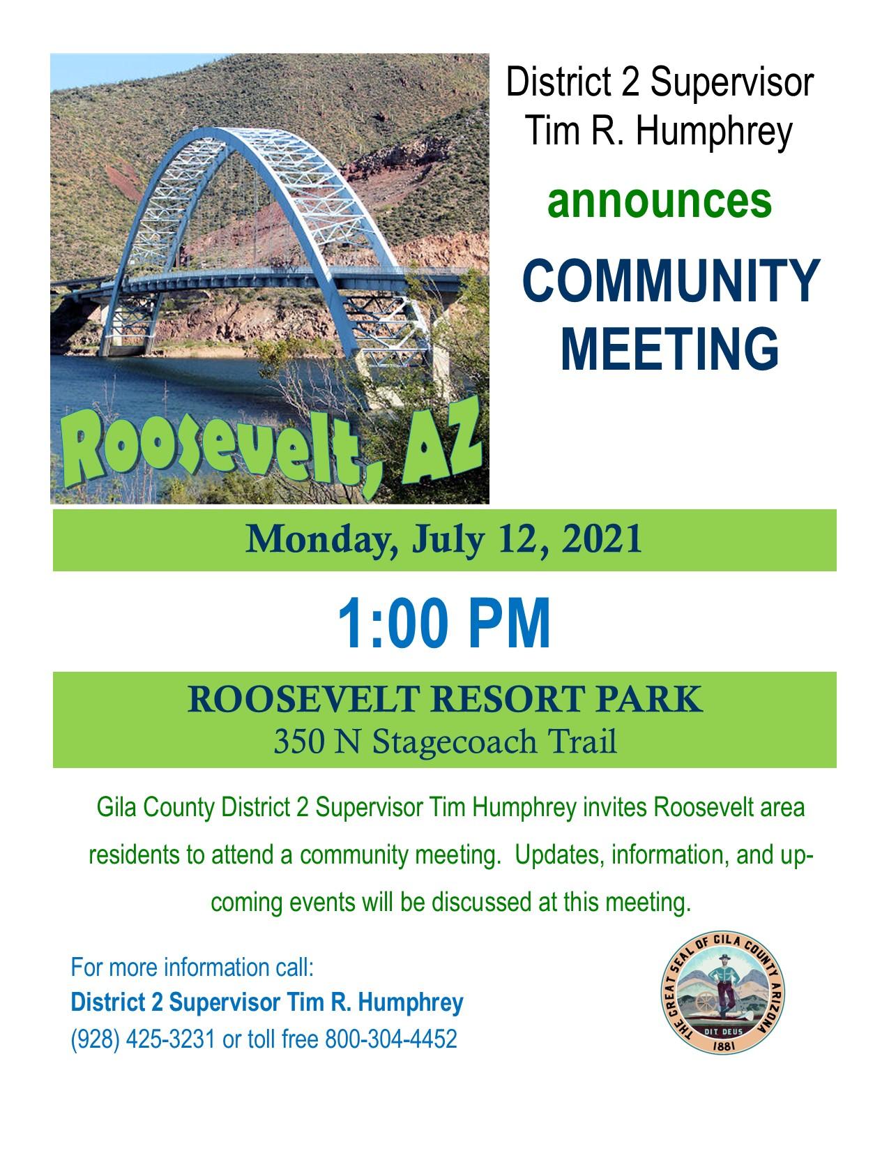 Roosevelt Community Meeting